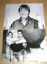 LOT 2 RARES PHOTOS DE STARS / CENDRINE DOMINGUEZ + CHRISTINE JANIN / TRES B ETAT