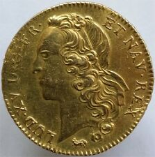 1744 GOLD DOUBLE LOUIS D'OR FRANCE, LOUIS XV, VERY RARE