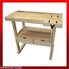 WNS Wooden Workbench Desk - Garage Workshop Craft Hobby Joiner Carpentry (WB05)