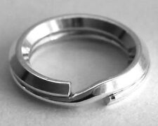 1 SECURE STERLING SILVER BEVELLED SPLIT RING, 9 MM, SAFER THAN A JUMP RING