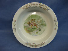 Beatrix Potter Baby / Childs Bowl ~ Royal Albert Bone China ~ Mr Jeremy Fisher