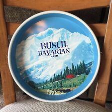Vintage BUSCH BAVARIAN BEER TRAY Anheuser Busch St. Louis Tin Busch Alps 1960s