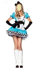New Alice in wonderland Ladies Women Fancy Dress Costume 6-8