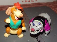 "VINTAGE 1989 ALL DOGS GO TO HEAVEN CHARLIE B BARKIN & CARFACE 3"" PVC FIGURE LOT"