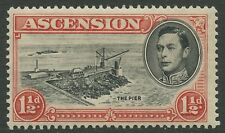 Ascension Island SG40 1938 1½d black & vermillion P13.5