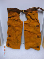 "DOLLHOUSE MINI 1"" SCALE  WESTERN LEATHER  COWBOY'S CHAPS"