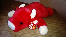 "TY BEANIE BUDDY SNORT THE RED BULL 14"" VGC  ALL TAGS 1998 YR CPICS!"