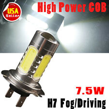 White H7 High Power 7.5W COB LED Bulbs Fog/Driving DRL Head Light Projection US