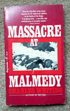 MASSACRE AT MALMEDY BY CHARLES WHITING AUTHOR OF PATTON