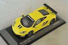 MINICHAMPS 437121396 -  MCLAREN MP4 12C GT3 STREET - 2012 - JAUNE  1/43