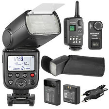 Neewer TT850 Flash Speedlite Photography Set For Canon Nikon+Charger+Trigger
