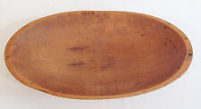 Antique Primitive Smooth Wooden Maple Dough Bowl Trencher With Handles