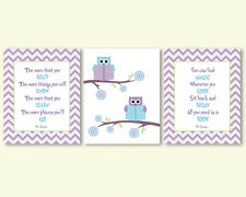 3 prints / posters for kids, baby, nursery - Dr Seuss quotes about reading, owls