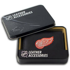 Detroit Red Wings NHL Embroidered Leather Billfold Bi-fold Wallet ~ New