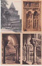 Lot 4 cartes postales anciennes MOISSAC cloître de saint-pierre