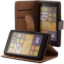 Nokia Lumia 625 handy tasche schwarz flip case Brieftasche schutz hülle cover