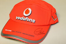LEWIS HAMILTON HAND SIGNED F1 VODAFONE RACING CAP UNFRAMED + PHOTO PROOF & C.O.A