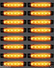 16 pièces x 12V 6 LED Marquage Latéral Ambre Phares pour camion Mercedes IVECO