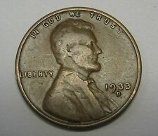 1933-D Lincoln Wheat Cent in Average Circulated Condition    DUTCH AUCTION