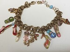 KIRKS FOLLY -Fairy Shoe Charm Bracelet High Heels Sandles Beads Crystals & More