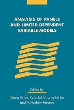Analysis of Panels and Limited Dependent Variable Models (Studies in Monetary &