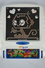 Hasbro 2003 Lite Brite White Blue Light Works Great Extra Color Pegs Replacement