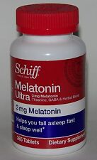 Schiff Melatonin 3 mg Ultra Theanine GABA 365 Tablets Stress Relief Sleep Aid