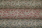 Polycotton VINTAGE SHABBY CHIC Ditsy Floral Flower Fabric Pink Green Blue Orange