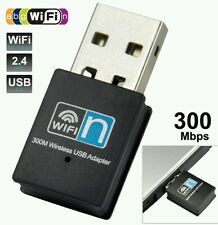 Adaptador Inalámbrico WIFI 300 Mbps 802.11 B G N USB Dongle Adaptador De Red Lan Wps