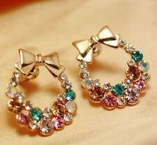 New Banquet Crystal Dangle Earrings Rhinestone Chandelier Piercing Jewelry A5