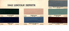 1942 LINCOLN ZEPHYR CUSTOM CONTINENTAL 42 PAINT CHIPS ARCO