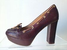 SPERRY TOP SIDER Womens Brown Leather high heel platform shoes Size 9 M