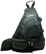 Messenger Sling Body Bag  BLACK Backpack Cross Body Shoulder Day Pack One Strap