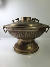 Vintage KOREAN BRASS FOOD WARMER COOKER Server Cuisine