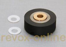 Gummi-Andruckrolle + 2 Teflonscheiben, Gleitscheiben für Studer Revox A77 MKIII