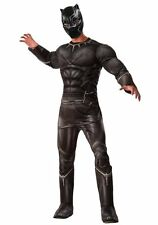 Captain America Civil War Black Panther Deluxe Muscle Adult Costume NEW - 810969