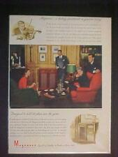 OLD VINTAGE ~MAGNAVOX HOME RADIO PHONOGRAPH PRINT AD~ ORIGINAL ANTIQUE RARE 1946