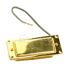 Hight Quality Artec Mini Covered Neck Humbucker Pickup Flat Chrome Surround GD
