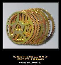 MINIMOTO ZOCCHI Couronne 70z Rear Sprocket Acier Steel  ZOC 200.0350