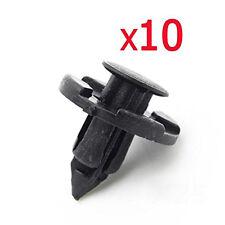 10pc Auto Plastic Rivet Weatherstrip Fastener Mud Flaps Bumper Fender Push Clip