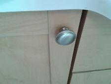 20  x 31mm round knob satin nickel effect