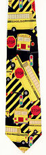 School Buses Mens Necktie Bus Driver Traffic Signs Education Gift Black Tie New