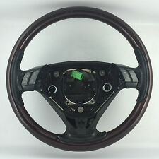 GENUINE OEM VOLVO DARK WOOD RIM,  3 SPOKE STEERING WHEEL. XC90, D5, SE, T6 ETC
