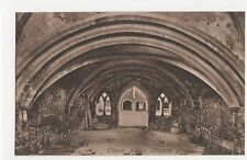 Somerset, Cleve Abbey Chapter House Postcard, A811