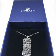 SWAROVSKI Necklace Pendant MEN Blaze Dog Tag Rhodium stainless steel 5070463