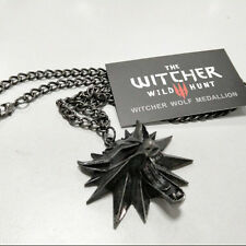 The Witcher 3: Wild Hunt Wolf Head Chain Necklace Medallion Pendant Gift