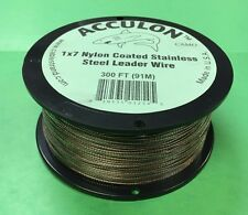 90 Pound Test Camo Acculon Leader Wire Downrigger Cable - 300 Feet