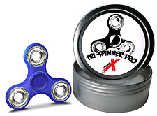 Fidget Spinner Tri-Spinner Pro Slim with Metal Case Tin SMOOTH MINI TOY blue