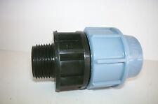 Pz 2 raccordo 16x1/2 Maschio a compressione per tubi polietilene PP PN16
