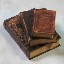 Set of Three Antique Style Storage Book Boxes Decorative & Practical